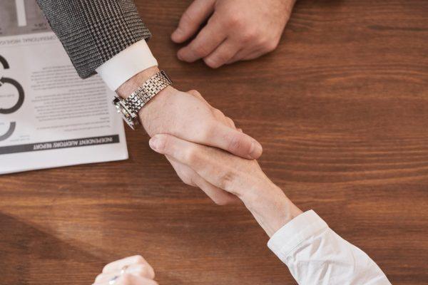 Buisness partners shaking hands